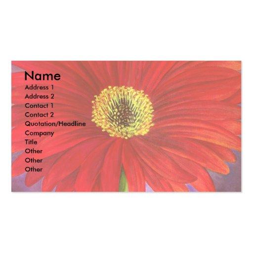 Pintura roja de la flor de la margarita - multi tarjetas de visita