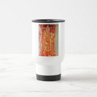 Pintura roja de la serpiente del oro de la mujer d taza de viaje de acero inoxidable