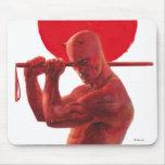 Pintura roja de Sun del temerario Tapete De Raton