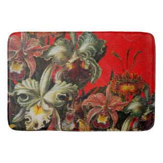 Pintura roja del cepillo del aceite de las flores