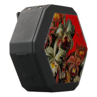 Pintura roja del cepillo del aceite de las flores altavoz