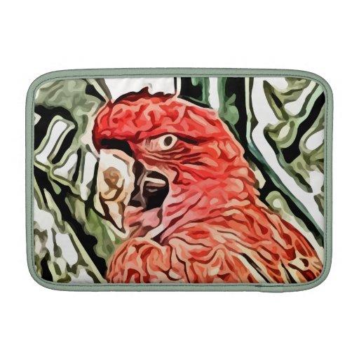 pintura roja del cockatoo fundas para macbook air