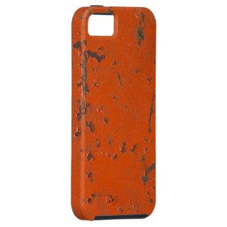 Pintura roja escamosa, rasguñada. Falso moho y gru iPhone 5 Case-Mate Fundas