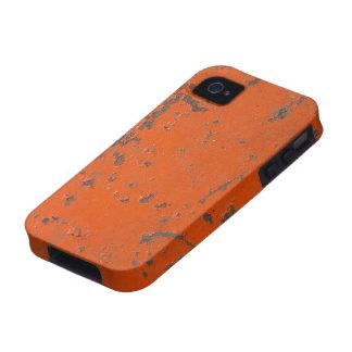 Pintura roja escamosa rasguñada Falso moho y gru Case-Mate iPhone 4 Carcasa