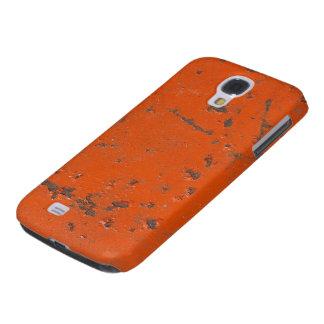 Pintura roja escamosa, rasguñada. Falso moho y gru Funda Para Galaxy S4