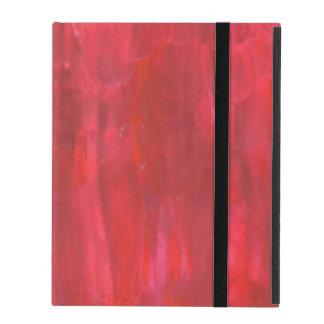 Pintura roja rústica del extracto de la acuarela