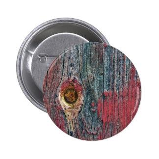 Pintura roja saltada en la superficie de madera pin redondo 5 cm