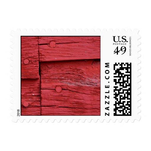 Pintura roja sello