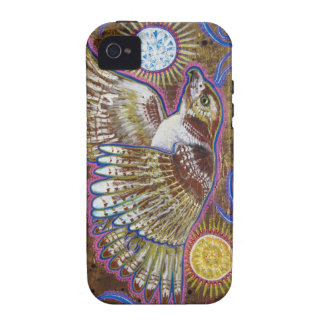 Pintura Rojo-Atada del halcón Case-Mate iPhone 4 Carcasas