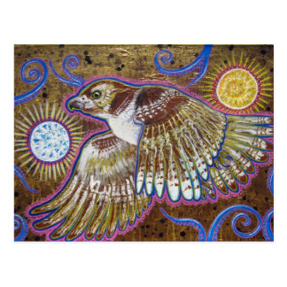 Pintura Rojo-Atada del halcón Tarjetas Postales