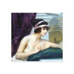Pintura romana de la antigüedad de la mujer de la  impresión en lienzo estirada