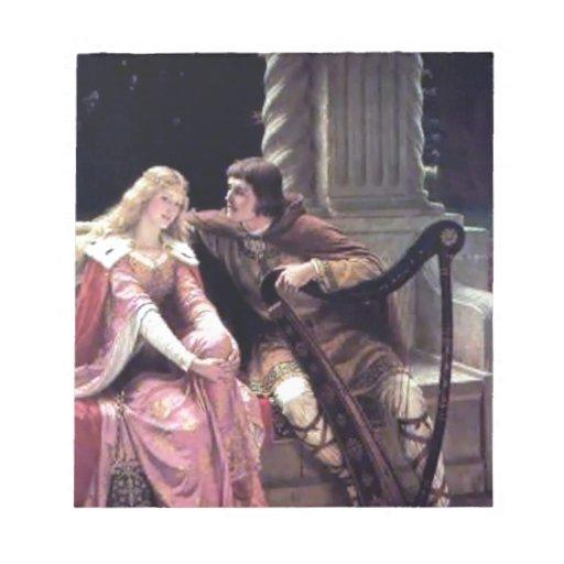 Pintura romántica de la mujer del hombre de la arp blocs