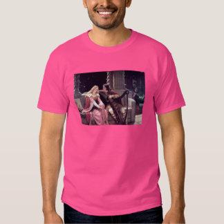 Pintura romántica del castillo de los pares camisas