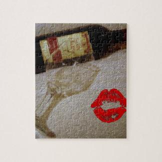 Pintura romántica del vino del amor de I Rompecabeza