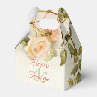 Pintura romántica del vintage de casarse de los cajas para detalles de boda