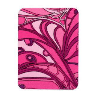 Pintura rosada abstracta del panel iman flexible