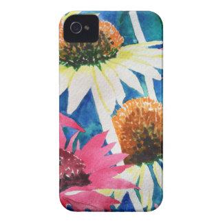 Pintura rosada de la acuarela de la flor del cono Case-Mate iPhone 4 carcasa