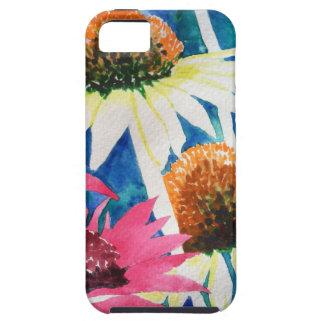 Pintura rosada de la acuarela de la flor del cono iPhone 5 Case-Mate protector