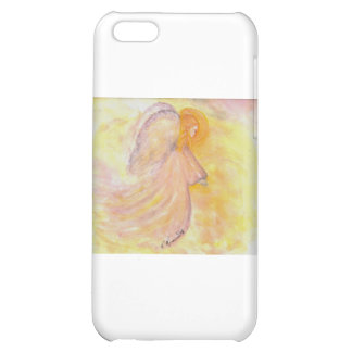 Pintura rosada de la acuarela del ángel