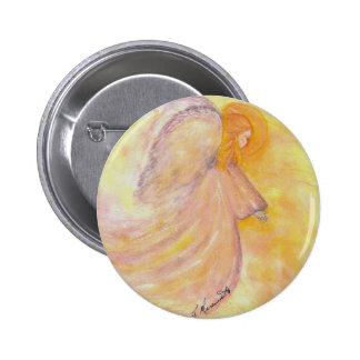 Pintura rosada de la acuarela del ángel pin