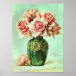 Pintura rosada de la flor de la bella arte de los