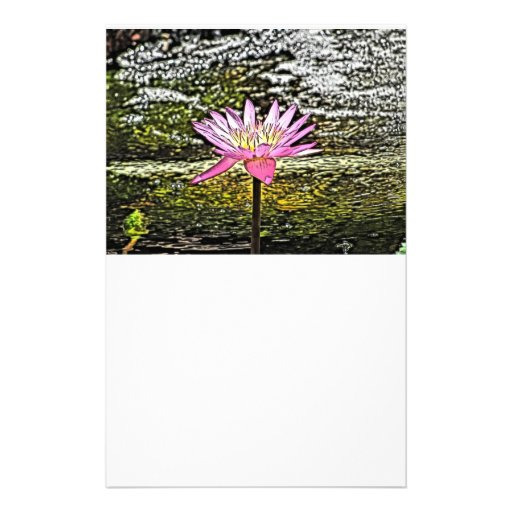 Pintura rosada de la flor de Lilypad Papeleria