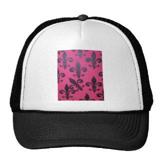 Pintura rosada de la flor de lis gorro de camionero
