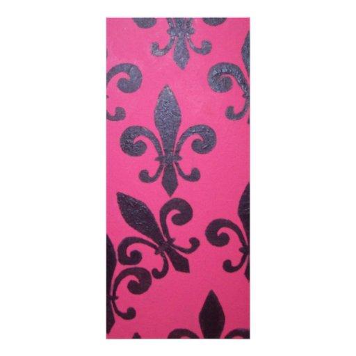 Pintura rosada de la flor de lis tarjeta publicitaria