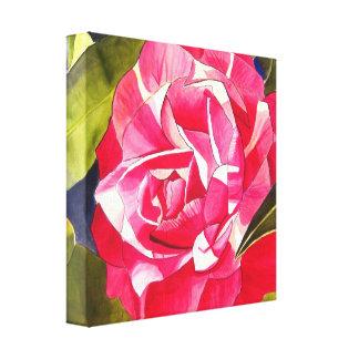 Pintura rosada del arte de la flor de la acuarela  impresión en lona