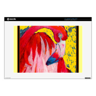 Pintura rosada del arte del flamenco por Sharles Calcomanía Para Portátil