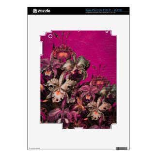 Pintura rosada del cepillo del aceite del vintage iPad 3 skins