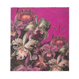 Pintura rosada del cepillo del aceite del vintage libreta para notas
