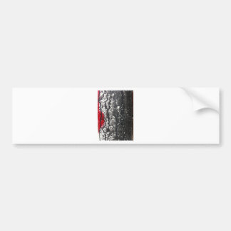 Pintura rota desolación del amor etiqueta de parachoque