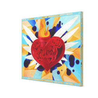 Pintura sagrada de Graffitti del corazón Impresiones En Lona Estiradas