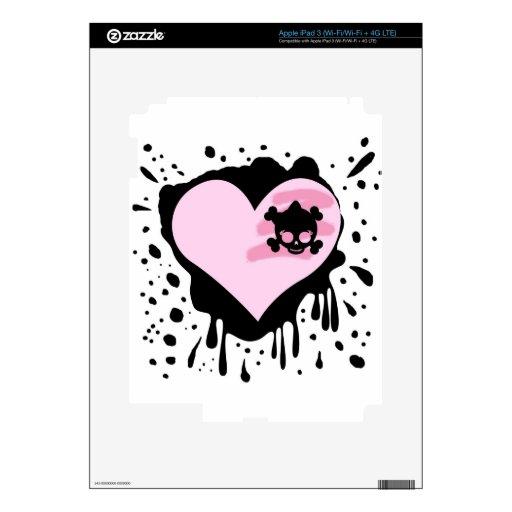 Pintura salpicada negra de la piel punky de prince iPad 3 pegatina skin