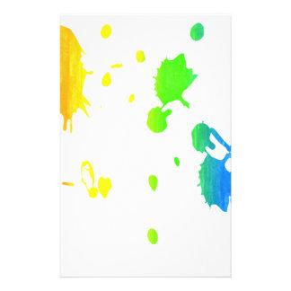 Pintura-salpicadura del arco iris papeleria de diseño