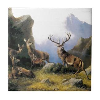 Pintura salvaje de los anomals de la naturaleza de azulejo cuadrado pequeño