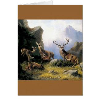 Pintura salvaje de los anomals de la naturaleza de tarjeta de felicitación