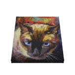 Pintura siamesa del punto del sello lona estirada galerías