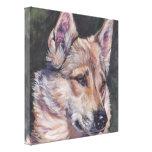 pintura siberiana del oeste del perro de la bella  impresiones en lienzo estiradas