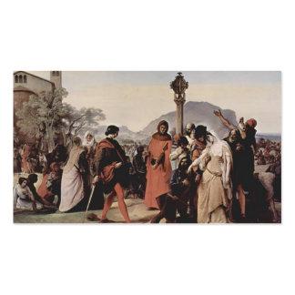 Pintura siciliana de las tardes de Francisco Hayez Tarjetas De Visita