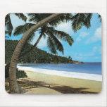 Pintura tropical de la playa tapete de ratón