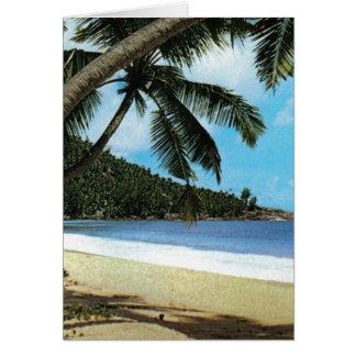 Pintura tropical de la playa felicitación