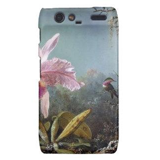 Pintura tropical del bosque de la flor de la orquí motorola droid RAZR carcasa