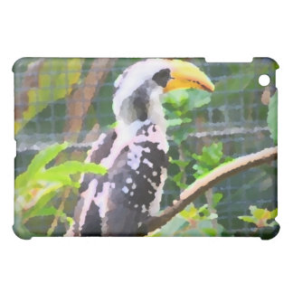 pintura tropical del extracto del pájaro del hornb