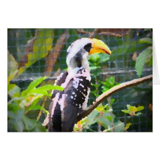 pintura tropical del extracto del pájaro del hornb tarjetas