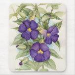 Pintura tropical púrpura de la flor - multi alfombrilla de ratones
