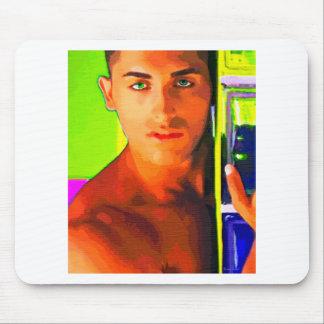 Pintura:  Trozo sobre el vidrio (cosecha) Tapete De Raton