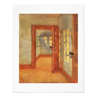 """Pintura única de la puerta del folleto del aviador folleto 4.5"""" x 5.6"""""""