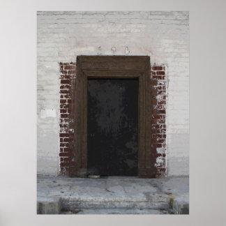 Pintura urbana de la foto de la puerta poster